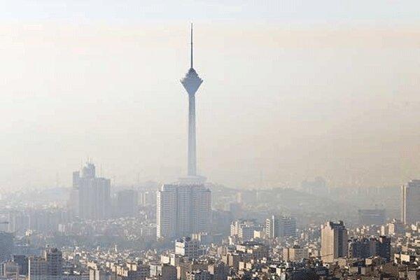 هوای تهران دوباره آلوده شد ، کیفیت هوا نارنجی است