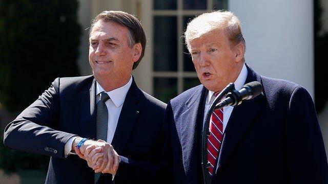 ترامپ برزیل با ترامپ واقعی ملاقات می نماید