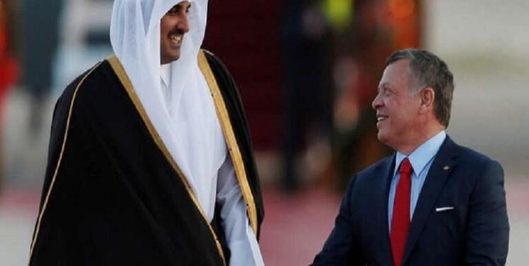امیر قطر در راس هیئتی بلندپایه وارد اردن شد