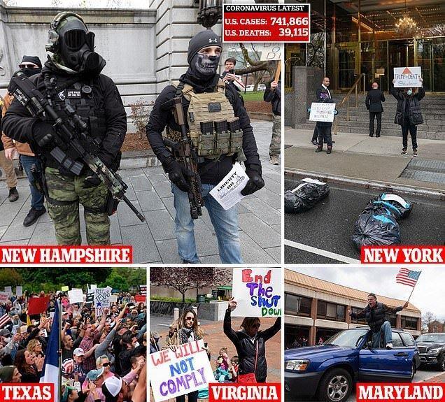 اعتراضات ضد قرنطینه در آمریکا