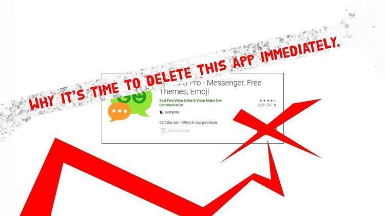 اشتباه فاجعه بار اپلیکیشن GO SMS Pro و سکوت سازندگان